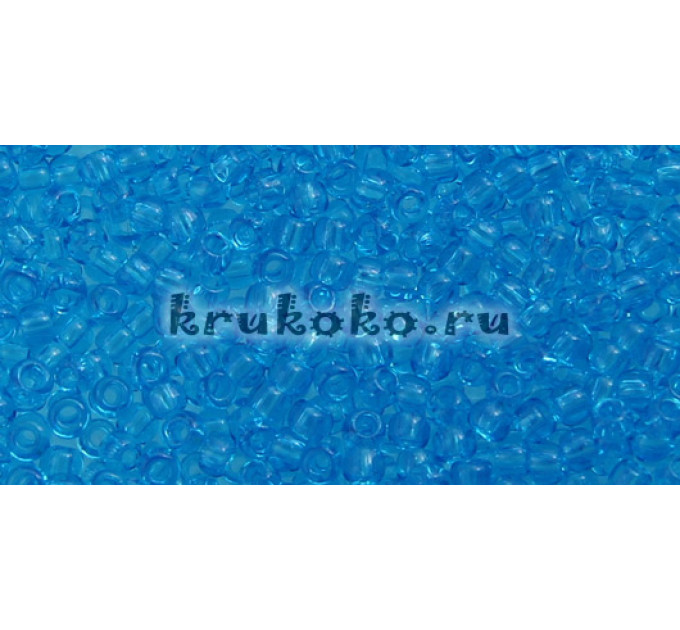 Бисер Toho 11/0 Прозрачный темный аквамарин