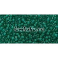 Бисер Toho 11/0 Прозрачный матовый изумруд (TR-11-7BDF)