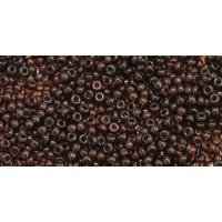 Бисер Preciosa 10/0 №10140 Прозрачный темный топаз, 1 сорт (50 гр)