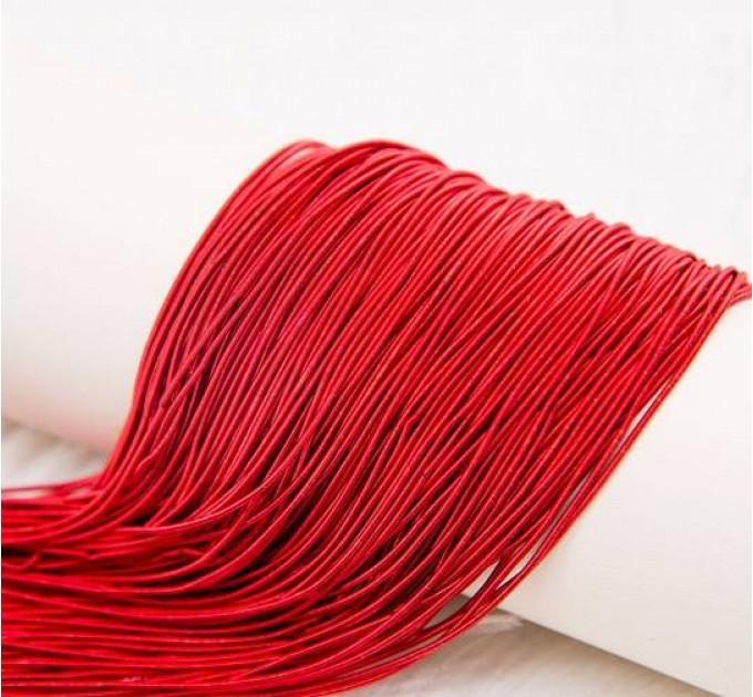Канитель мягкая, 1 мм,  матовая красная (5 гр)