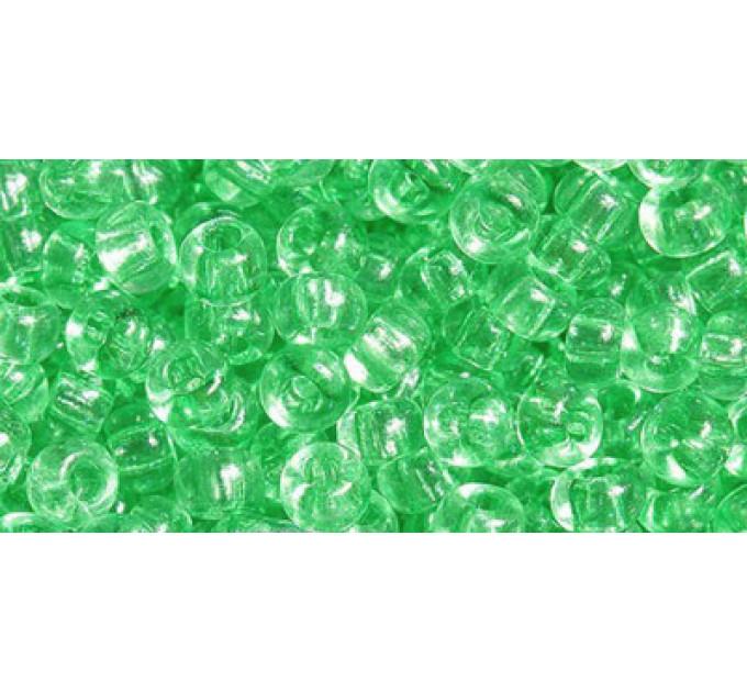 Бисер Preciosa 10/0 №01161 Прозрачный светло-зеленый, 1 сорт (50 гр)