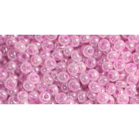 Бисер Preciosa 10/0 №37126, Непрозрачный перламутровый лилово-розовый 1 сорт (50 гр)