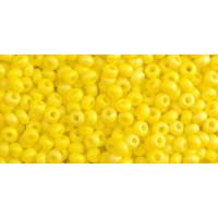 Бисер Preciosa 10/0 №84110 Непрозрачный матовый лимон, 1 сорт (50 гр)