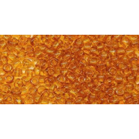 Бисер Preciosa 10/0 №10070 Прозрачный темный янтарный, 1 сорт (50 гр)