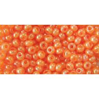 Бисер Preciosa 10/0 №17389 Непрозрачный алебастр оранжевый, 1 сорт (50 гр)