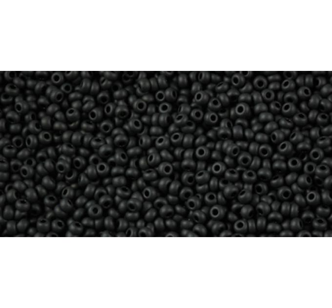 Бисер Preciosa 10/0 №23980M Непрозрачный матовый черный, 1 сорт (50 гр)