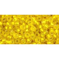 Бисер Preciosa 10/0 №87010M Внутреннее серебрение матовый желтый, 1 сорт (50 гр)