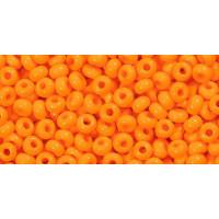 Бисер Preciosa 10/0 №93110 Непрозрачный оранжевый, 1 сорт (50 гр)