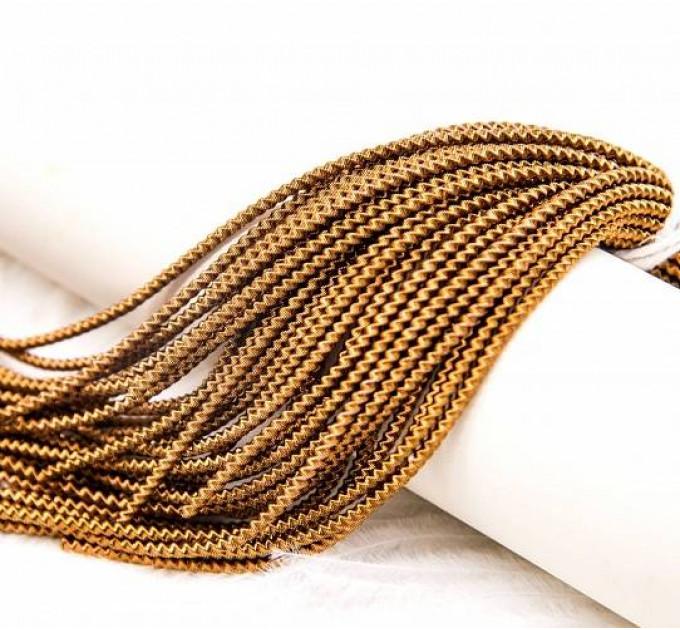 Трунцал зиг-заг, 2 мм, античное золото (5 гр)