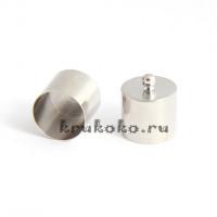 Колпачок-циллиндр, ВД 13мм, серебро