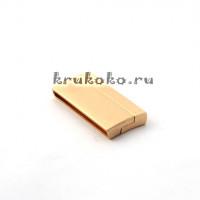 Магнитная застежка плоская, ВД 39x4мм, золото