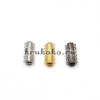 Магнитная застежка пришивная для браслетов, 33х14x7мм, серебро