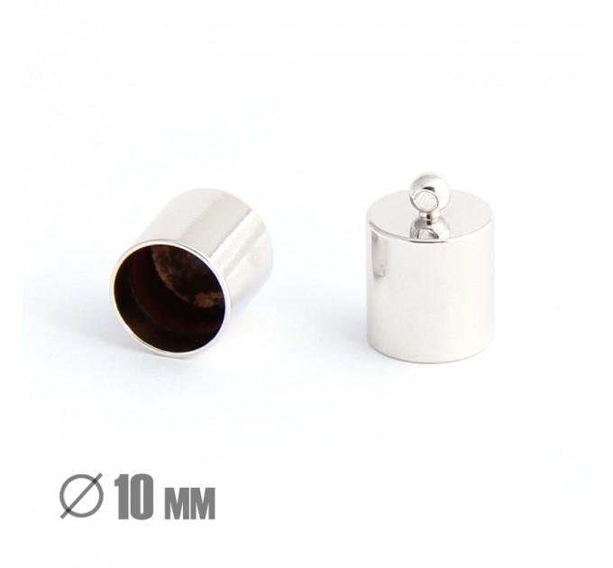 Колпачок-циллиндр, ВД 10мм, родиевое покрытие