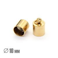 Колпачок-циллиндр, ВД 10мм, нержавеющая сталь, золото