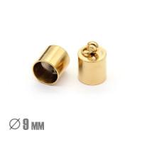 Колпачок-циллиндр, ВД 9мм, нержавеющая сталь, золото