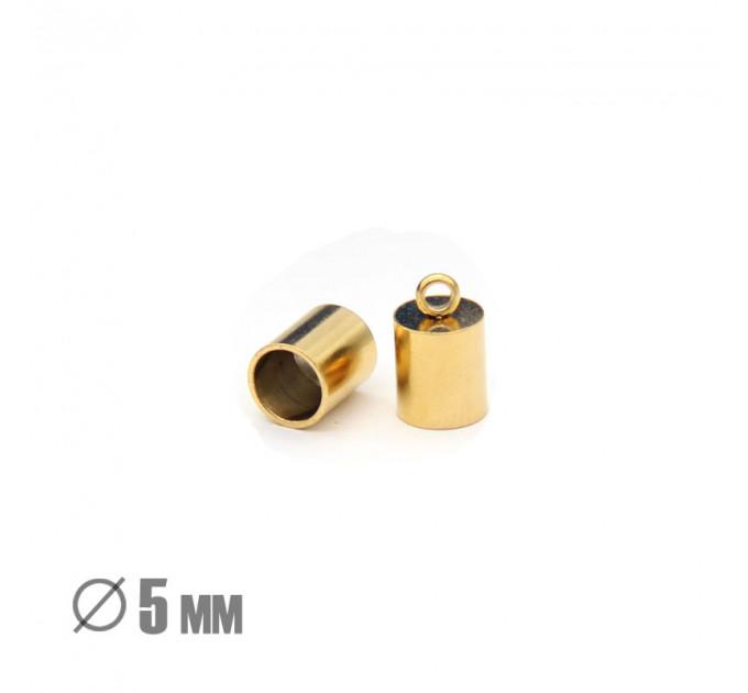 Колпачок-циллиндр, ВД 5мм, нержавеющая сталь, золото