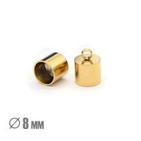 Колпачок-циллиндр, ВД 8мм, нержавеющая сталь, золото