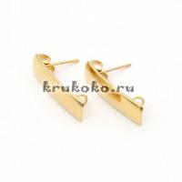 Швензы-гвоздики, нержавеющая сталь 316, золото (2 шт.)