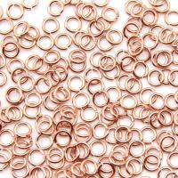 Колечко размыкаемое, 4 мм, толщина 1,2мм, роз.позолота 16К (2 шт.)