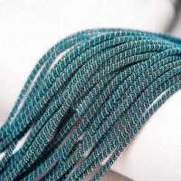 Канитель витая спираль, 3,5 мм, голубо-коричневая (5 гр)