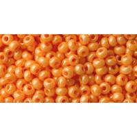 Бисер Preciosa 10/0 №16389 Непрозрачный перламутровый оранжевый, 1 сорт (50 гр)