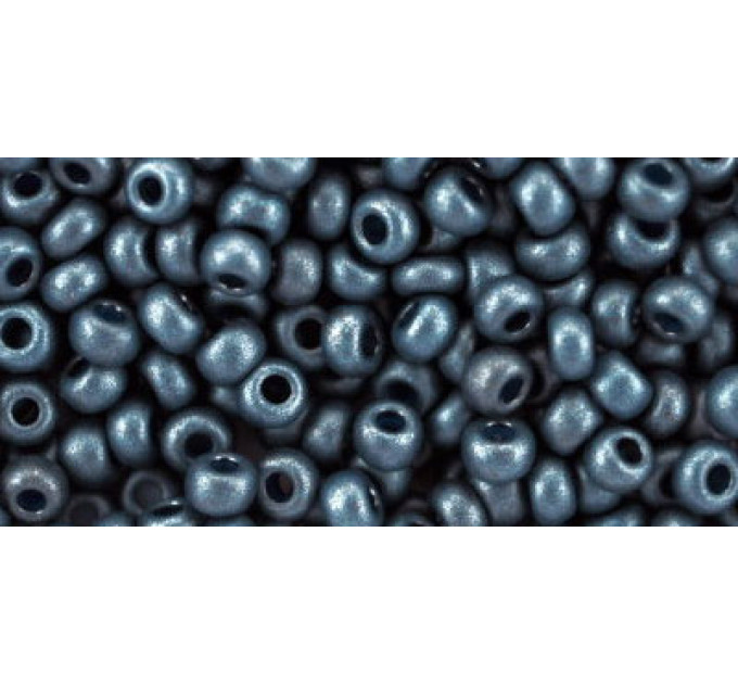 Бисер Preciosa 10/0 №28936 Непрозрачный алебастр темно-серый, 1сорт (50 гр)