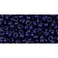 Бисер Preciosa 10/0 №30110 Прозрачный кобальт, 1 сорт (50 гр)