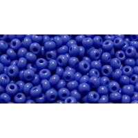 Бисер Preciosa 10/0 №33040 Непрозрачный ярко-синий, 1 сорт (50 гр)