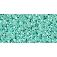Бисер Preciosa 10/0 №37158 Непрозрачный перламутровый бирюзово-зеленый, 1 сорт (50 гр)