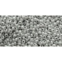 Бисер Preciosa 10/0 №37342 Непрозрачный перламутровый светло-серый, 1 сорт (50 гр)