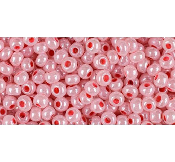 Бисер Preciosa 10/0 №37398 Непрозрачный перламутровый розовый, 1 сорт (50 гр)