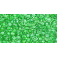 Бисер Preciosa 10/0 №38156 Прозрачный внутренний прокрас светло-салатовый, 1 сорт (50 гр)