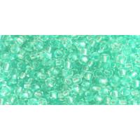 Бисер Preciosa 10/0 №38258 Прозрачный внутренний прокрас нежно-бирюзовый, 1 сорт (50 гр)