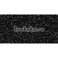 Бисер Toho 15/0 Непрозрачный морозный черный