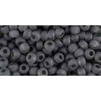 Бисер Preciosa 10/0 №40010M Прозрачный матовый темно-серый, 1 сорт (50 гр)
