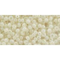 Бисер Preciosa 10/0 №57206 Полупрозрачный алебастр радужный молочный, 2 сорт (50 гр)