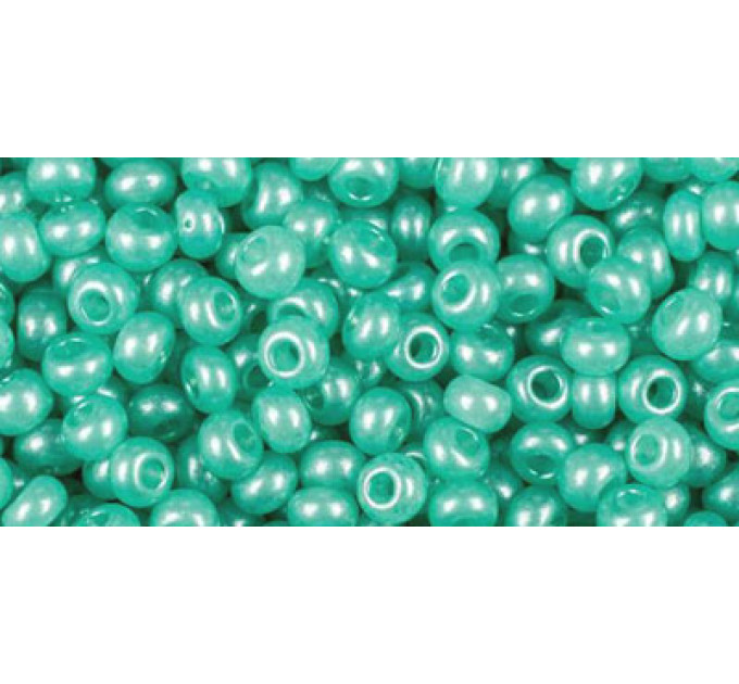 Бисер Preciosa 10/0 №17958 Полупрозрачный алебастр светло-бирюзовый, 2 сорт (50 гр)