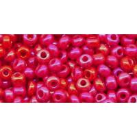 Бисер Preciosa 10/0 №94190 Непрозрачный радужный красный, 2 сорт (50 гр)
