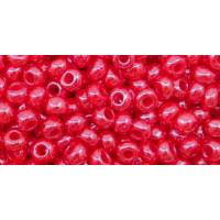 Бисер Preciosa 10/0 №98170 Непрозрачный радужный красный, 2 сорт (50 гр)