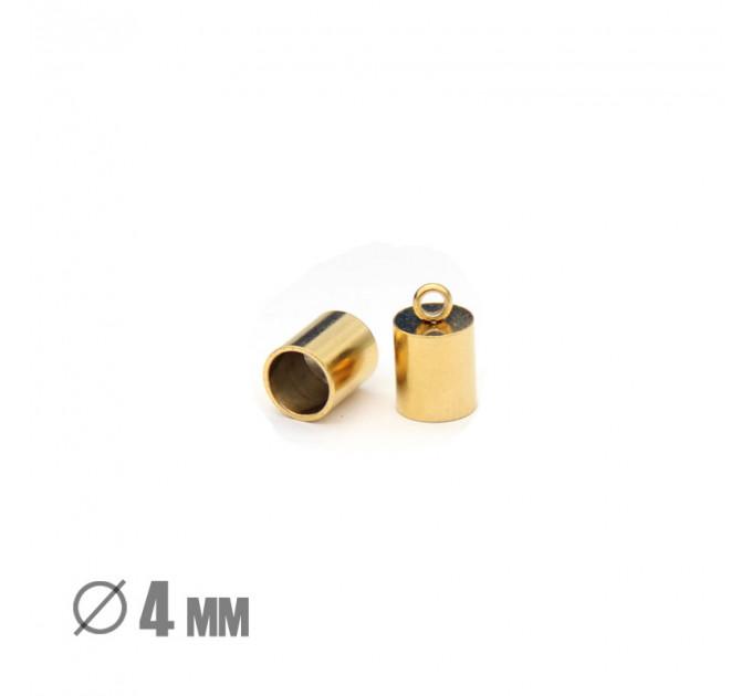 Колпачок-циллиндр, ВД 4мм, нержавеющая сталь, золото