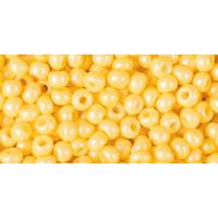 Бисер Preciosa 10/0 №16986 Непрозрачный алебастр желтый, 1 сорт (50 гр)