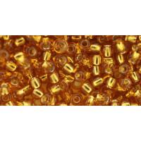 Бисер Preciosa 10/0 №17070 Внутреннее серебрение темный янтарь, 1 сорт (50 гр)