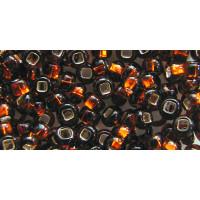 Бисер Preciosa 10/0 №17140H Внутреннее серебрение темный топаз, 1 сорт (50 гр)