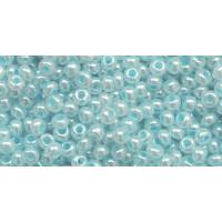 Бисер Preciosa 10/0 №37132 Непрозрачный перламутровый голубой, 1 сорт (50 гр)