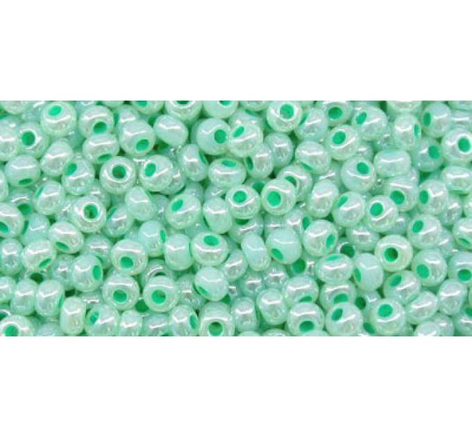 Бисер Preciosa 10/0 №37358 Непрозрачный перламутровый мятный, 1 сорт (50 гр)