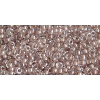 Бисер Preciosa 10/0 №38117 Прозрачный люстровый с внутренним прокрасом пралине, 1 сорт (50 гр)