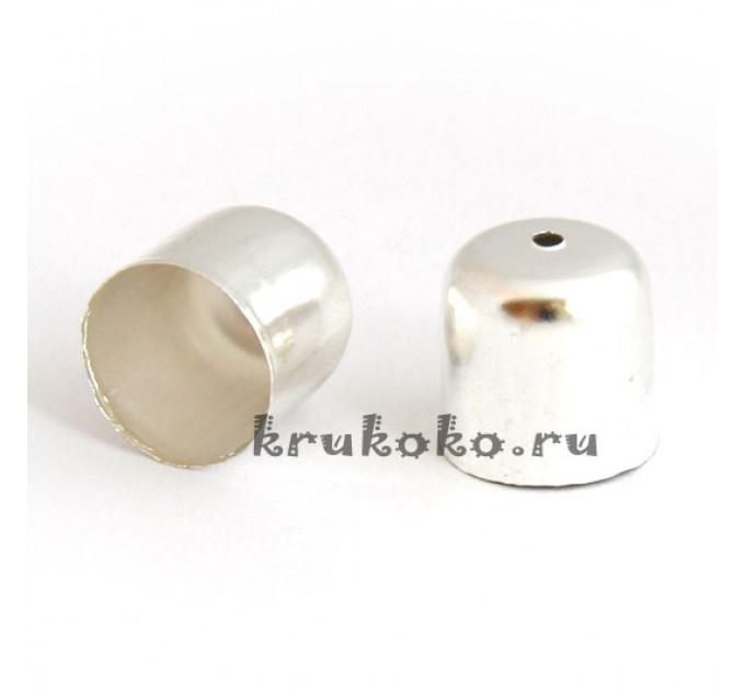 Колпачок-концевик, ВД 11,5мм, яркое серебро