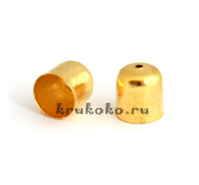 Колпачок-концевик, ВД 9мм, золото