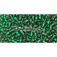 Бисер Toho 11/0 Внутреннее серебрение морозный зеленый изумруд