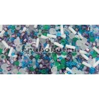 Бисер TOHO МИКС Fuji Белый/Зеленый/Голубой/Фиолетовый (TX-01-3229)